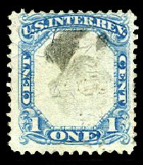 Prices of US Stamps Scott Catalog # R103: 1c 1871 Revenue Documentary . Cherrystone Auctions, Apr 2014, Sale 201404, Lot 133
