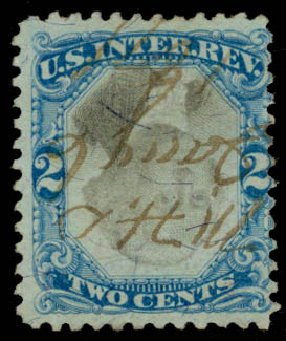 Cost of US Stamp Scott Catalogue # R104 - 2c 1871 Revenue Documentary . Daniel Kelleher Auctions, Sep 2013, Sale 639, Lot 3837