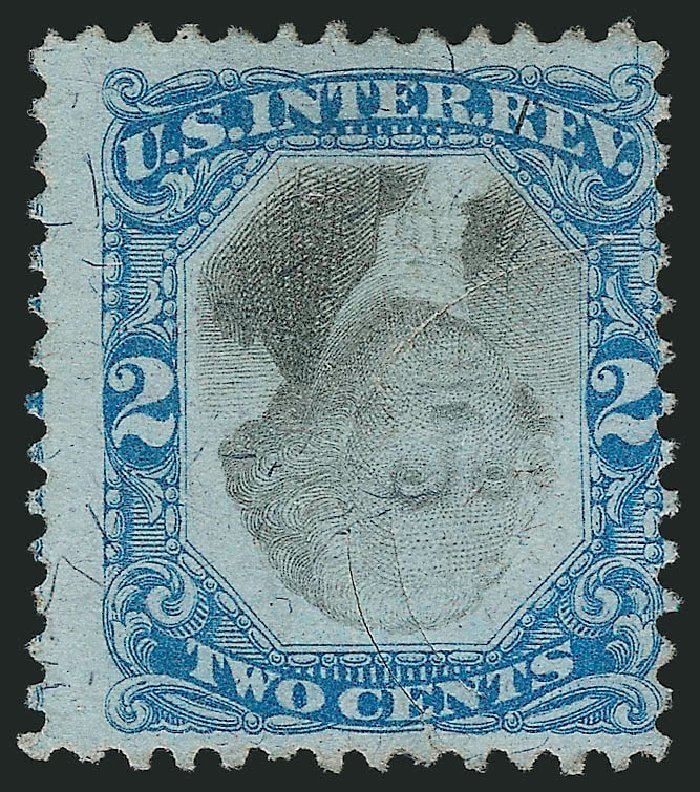 US Stamp Values Scott Catalogue #R104 - 1871 2c Revenue Documentary . Robert Siegel Auction Galleries, Mar 2014, Sale 1067, Lot 558