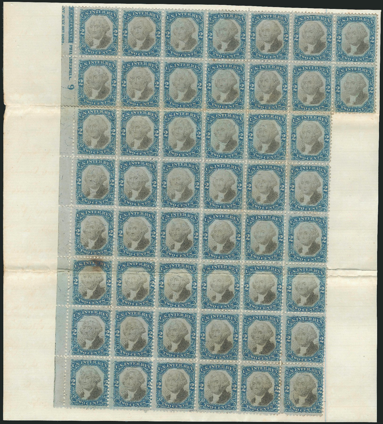 US Stamp Price Scott Catalogue R104: 2c 1871 Revenue Documentary . Robert Siegel Auction Galleries, Dec 2014, Sale 1089, Lot 491