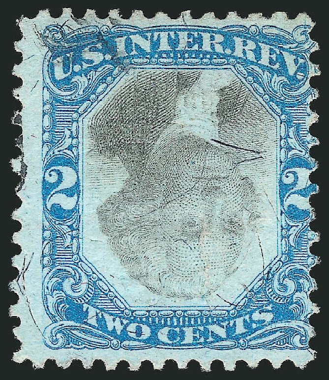 Values of US Stamps Scott Catalogue R104: 1871 2c Revenue Documentary . Robert Siegel Auction Galleries, Apr 2015, Sale 1096, Lot 981