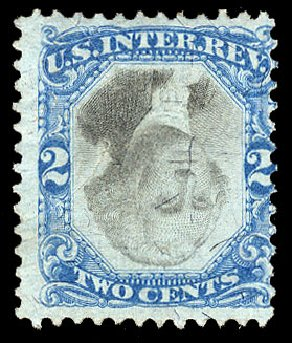 US Stamp Value Scott Catalogue R104: 1871 2c Revenue Documentary . Cherrystone Auctions, Apr 2010, Sale 201004, Lot 335