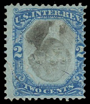 Value of US Stamps Scott Cat. # R104: 1871 2c Revenue Documentary . Daniel Kelleher Auctions, Jul 2011, Sale 625, Lot 1306