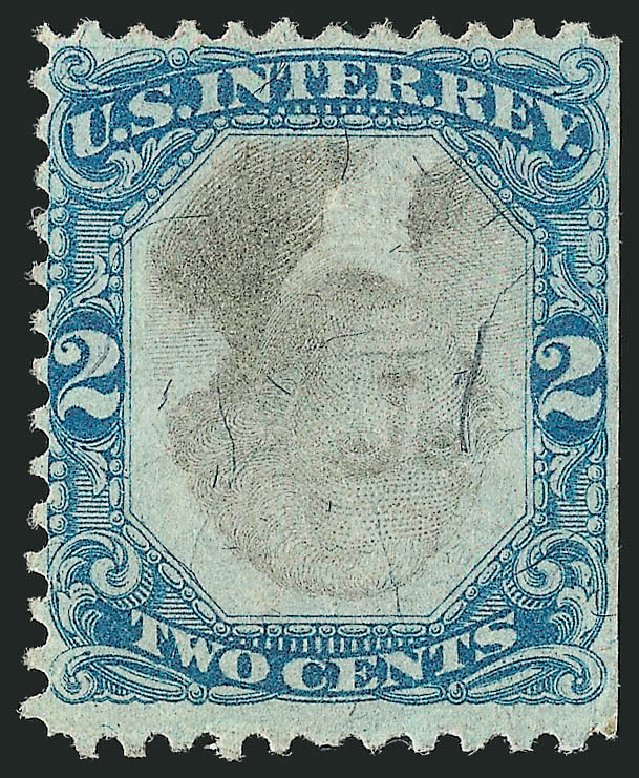 Values of US Stamps Scott Cat. R104: 2c 1871 Revenue Documentary . Robert Siegel Auction Galleries, Dec 2014, Sale 1089, Lot 476