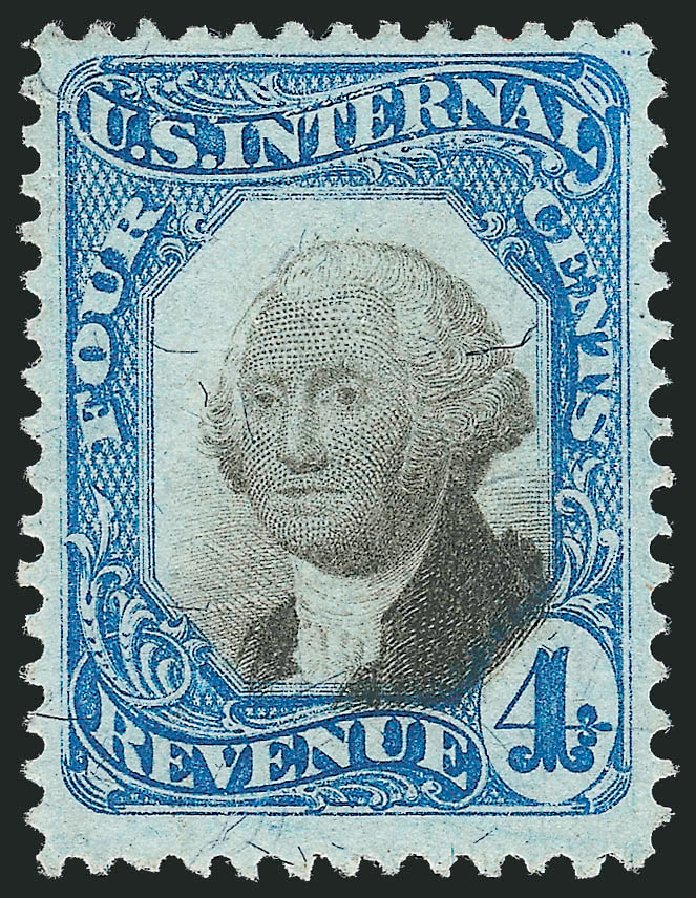 US Stamps Values Scott Cat. #R106: 1871 4c Revenue Documentary . Robert Siegel Auction Galleries, Oct 2012, Sale 1031, Lot 1035