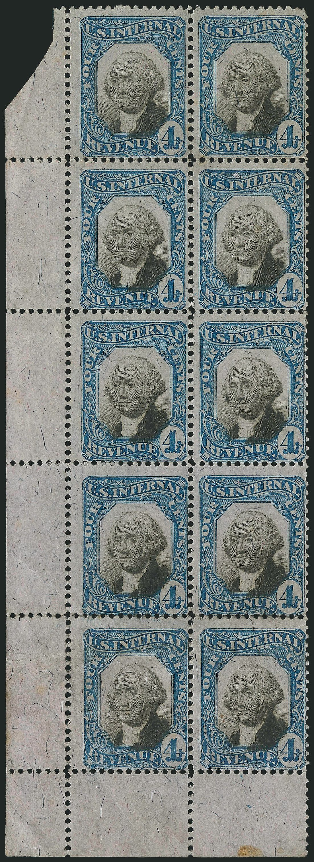Prices of US Stamps Scott Catalog #R106 - 4c 1871 Revenue Documentary . Robert Siegel Auction Galleries, Dec 2014, Sale 1089, Lot 492