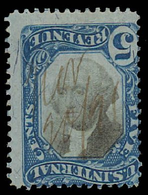 US Stamp Prices Scott # R107 - 5c 1871 Revenue Documentary . Daniel Kelleher Auctions, Jul 2011, Sale 625, Lot 1307
