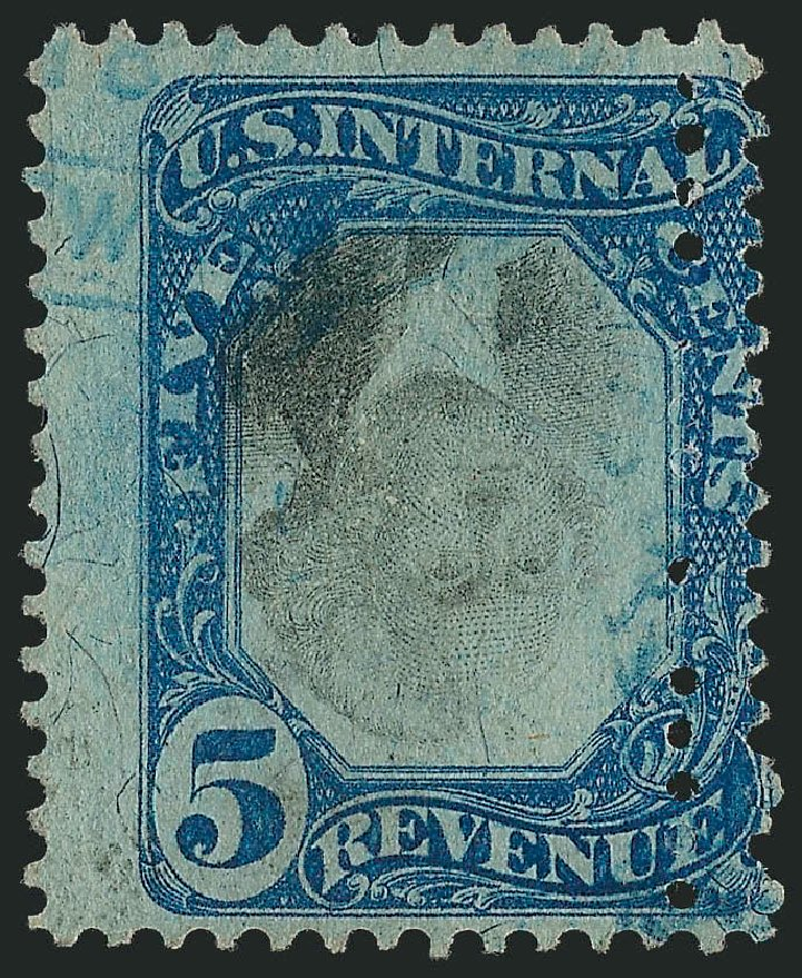 US Stamp Values Scott Catalogue #R107 - 5c 1871 Revenue Documentary . Robert Siegel Auction Galleries, Mar 2011, Sale 1007, Lot 3117