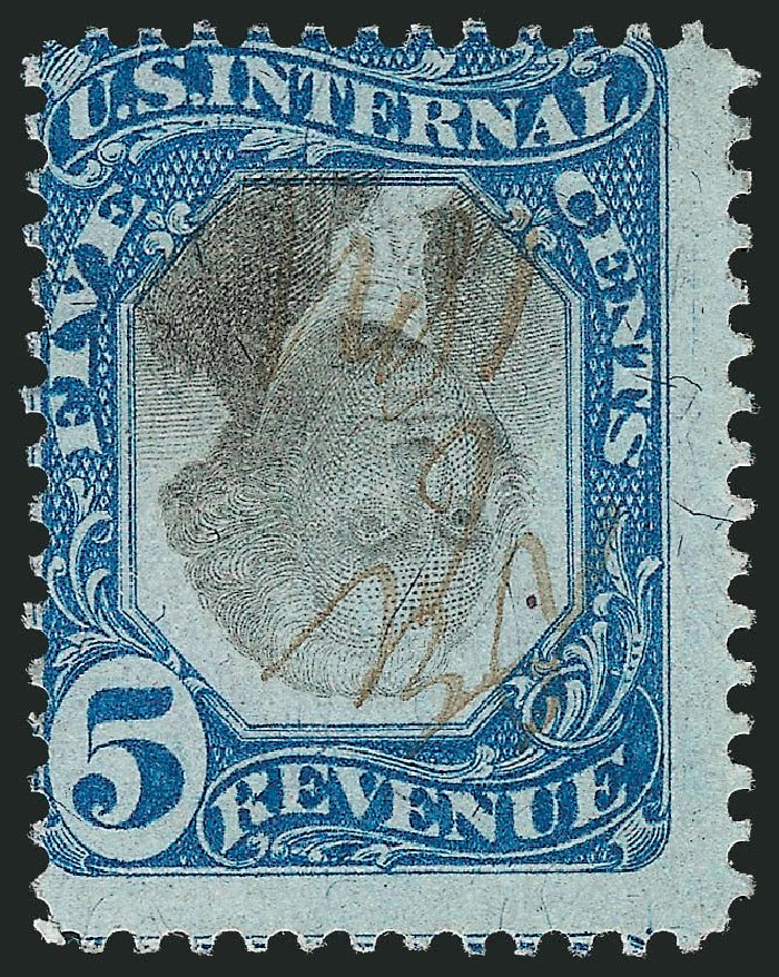 US Stamp Value Scott #R107 - 1871 5c Revenue Documentary . Robert Siegel Auction Galleries, Jun 2012, Sale 1026, Lot 1578