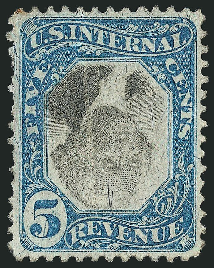 Price of US Stamps Scott R107: 5c 1871 Revenue Documentary . Robert Siegel Auction Galleries, Dec 2014, Sale 1089, Lot 478
