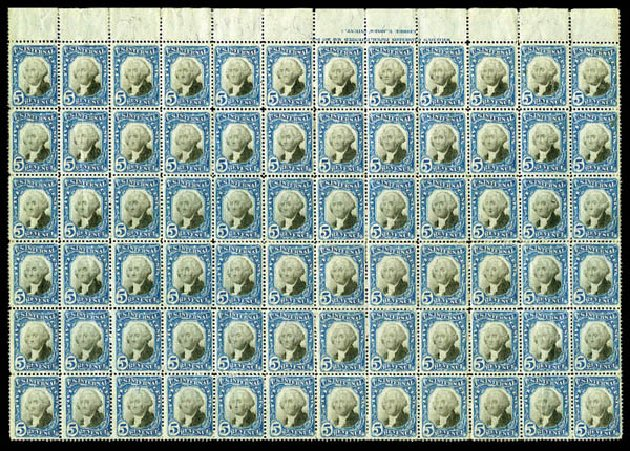 US Stamps Prices Scott Catalog #R107: 1871 5c Revenue Documentary . Matthew Bennett International, Mar 2011, Sale 337, Lot 3289