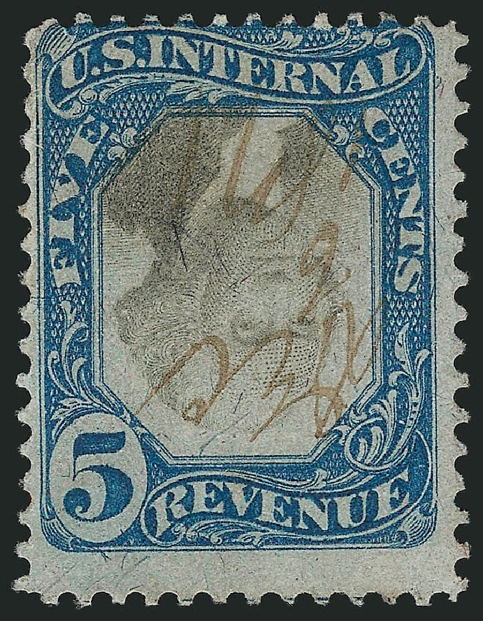 Values of US Stamp Scott #R107 - 5c 1871 Revenue Documentary . Robert Siegel Auction Galleries, Mar 2014, Sale 1067, Lot 559