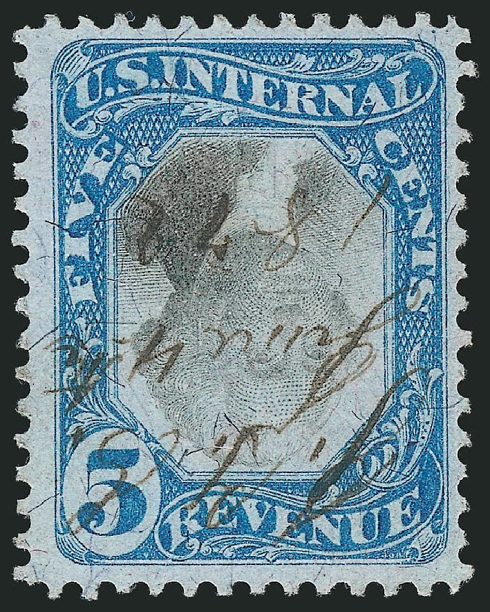 Value of US Stamp Scott # R107: 1871 5c Revenue Documentary . Robert Siegel Auction Galleries, Mar 2014, Sale 1066, Lot 91