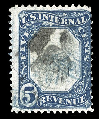 US Stamp Price Scott Cat. R107 - 5c 1871 Revenue Documentary . Cherrystone Auctions, Mar 2014, Sale 201403, Lot 124