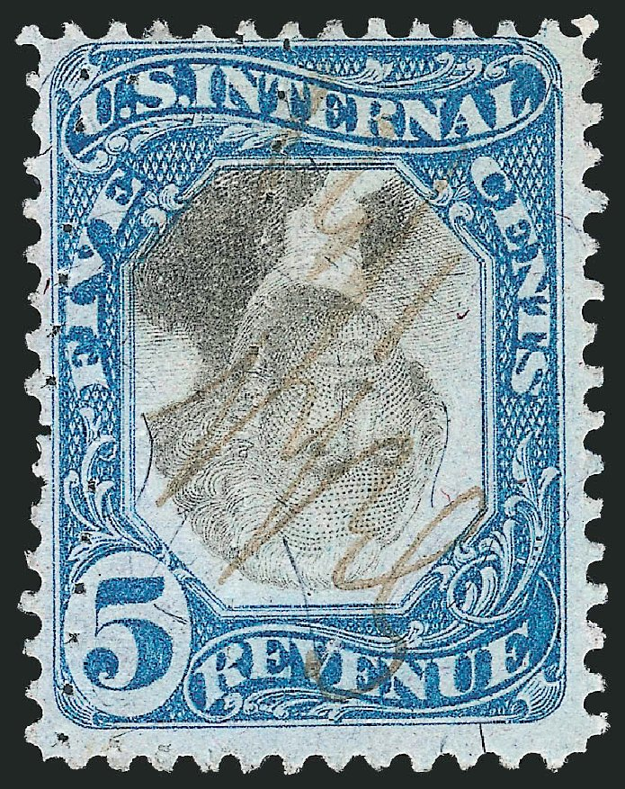 US Stamps Values Scott Catalog R107 - 5c 1871 Revenue Documentary . Robert Siegel Auction Galleries, Apr 2015, Sale 1096, Lot 982