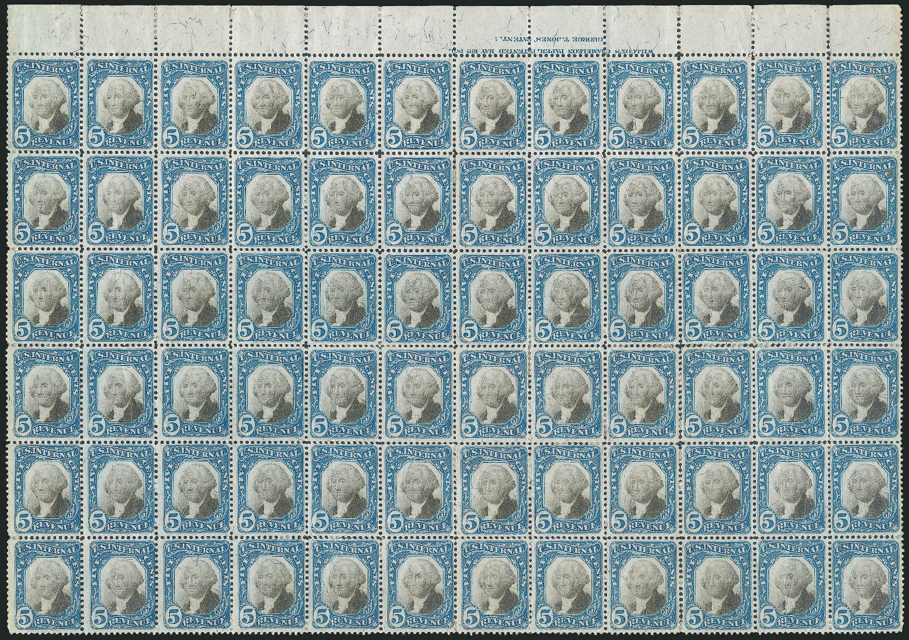 US Stamps Value Scott Cat. #R107 - 1871 5c Revenue Documentary . Robert Siegel Auction Galleries, Dec 2014, Sale 1089, Lot 493