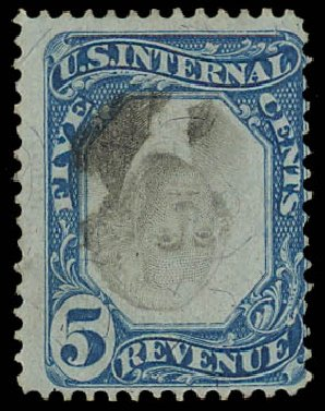 Cost of US Stamps Scott # R107: 5c 1871 Revenue Documentary . Daniel Kelleher Auctions, Jan 2012, Sale 628, Lot 766