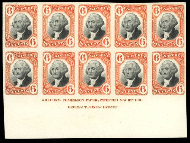 US Stamps Prices Scott Catalogue # R108: 6c 1871 Revenue Documentary . Daniel Kelleher Auctions, Jun 2012, Sale 630, Lot 2143