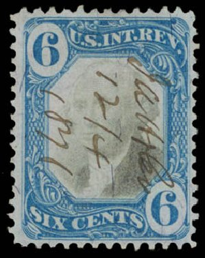 Prices of US Stamp Scott Cat. # R108 - 6c 1871 Revenue Documentary . Daniel Kelleher Auctions, May 2015, Sale 665, Lot 166