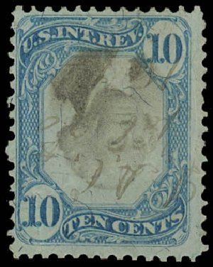 Price of US Stamp Scott Catalogue # R109 - 10c 1871 Revenue Documentary . Daniel Kelleher Auctions, Jan 2012, Sale 628, Lot 767