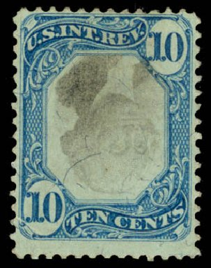 US Stamp Value Scott # R109 - 10c 1871 Revenue Documentary . Daniel Kelleher Auctions, Sep 2013, Sale 639, Lot 3838