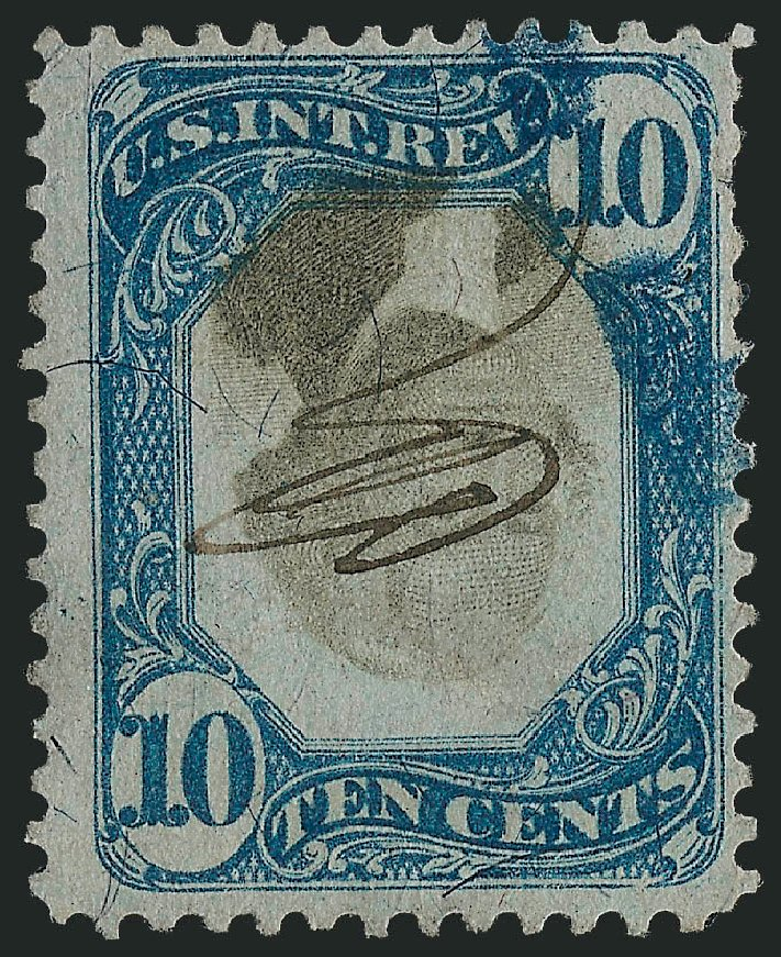 Cost of US Stamp Scott Catalogue # R109 - 10c 1871 Revenue Documentary . Robert Siegel Auction Galleries, Mar 2011, Sale 1007, Lot 3118