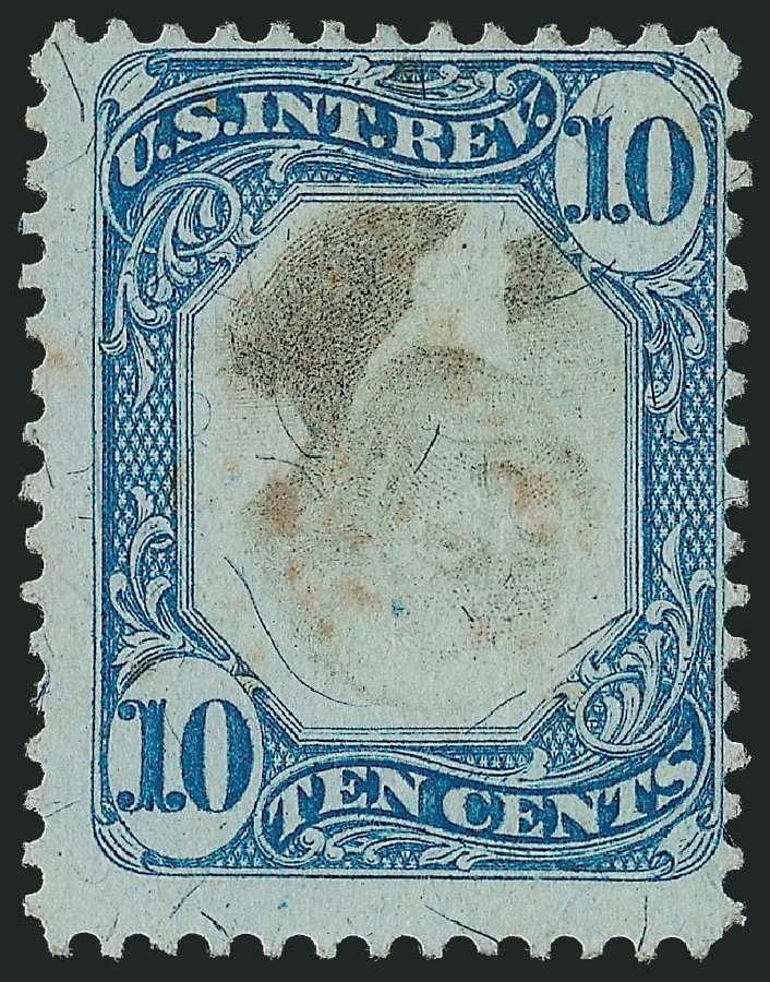 US Stamp Prices Scott Catalog # R109: 1871 10c Revenue Documentary . Robert Siegel Auction Galleries, Mar 2011, Sale 1007, Lot 3119