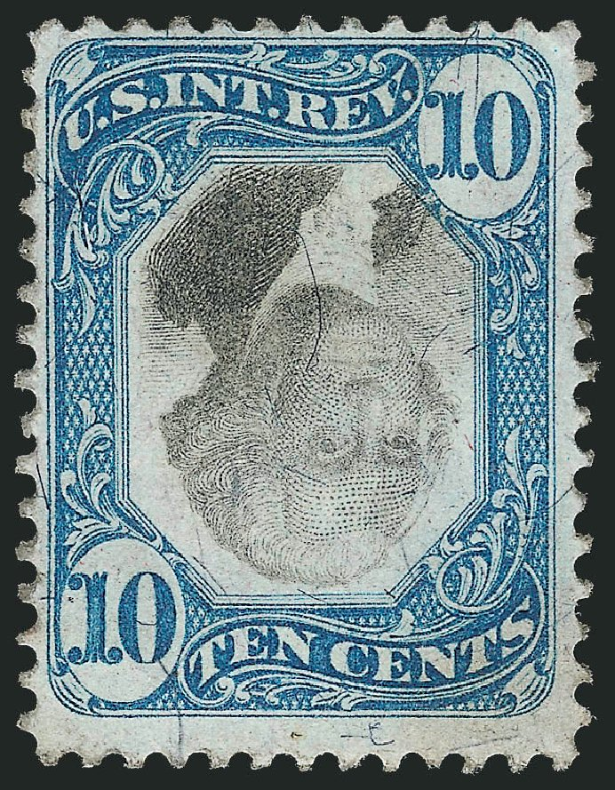 US Stamp Value Scott Catalogue R109 - 10c 1871 Revenue Documentary . Robert Siegel Auction Galleries, Dec 2014, Sale 1089, Lot 479