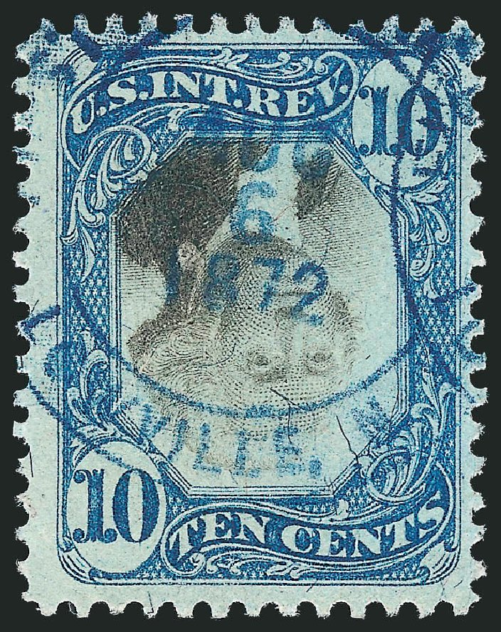 US Stamps Value Scott Catalogue # R109 - 10c 1871 Revenue Documentary . Robert Siegel Auction Galleries, Dec 2014, Sale 1089, Lot 480