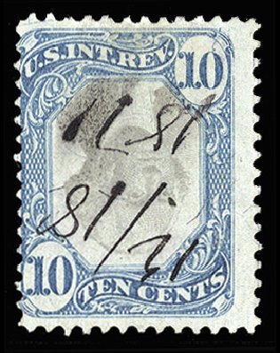 US Stamps Price Scott Catalogue # R109 - 1871 10c Revenue Documentary . Cherrystone Auctions, Mar 2014, Sale 201403, Lot 125