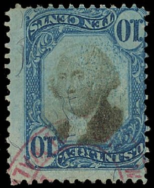 US Stamps Value Scott #R109: 10c 1871 Revenue Documentary . Daniel Kelleher Auctions, Apr 2012, Sale 629, Lot 505