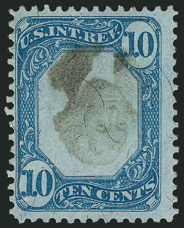 Value of US Stamp Scott Catalogue # R109 - 1871 10c Revenue Documentary . Robert Siegel Auction Galleries, Jul 2014, Sale 1077, Lot 502