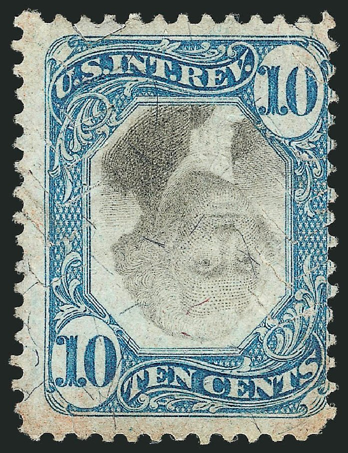 US Stamps Value Scott #R109 - 1871 10c Revenue Documentary . Robert Siegel Auction Galleries, Apr 2015, Sale 1096, Lot 983
