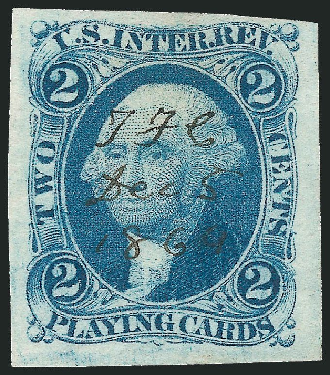 Prices of US Stamp Scott #R11: 1862 2c Revenue Playing Cards. Robert Siegel Auction Galleries, Dec 2014, Sale 1089, Lot 211