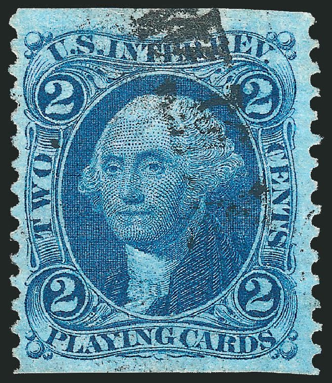 US Stamp Values Scott Catalogue #R11 - 2c 1862 Revenue Playing Cards. Robert Siegel Auction Galleries, Nov 2011, Sale 1015, Lot 44