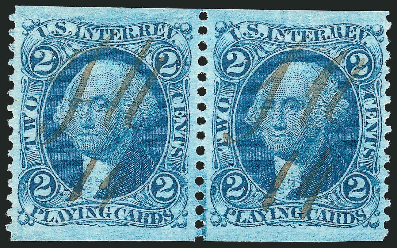 US Stamp Prices Scott Catalog R11: 1862 2c Revenue Playing Cards. Robert Siegel Auction Galleries, Dec 2014, Sale 1089, Lot 284