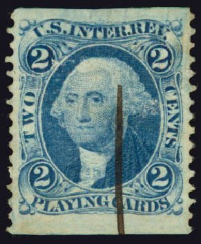 US Stamps Prices Scott Catalog #R11: 2c 1862 Revenue Playing Cards. Daniel Kelleher Auctions, May 2015, Sale 665, Lot 12