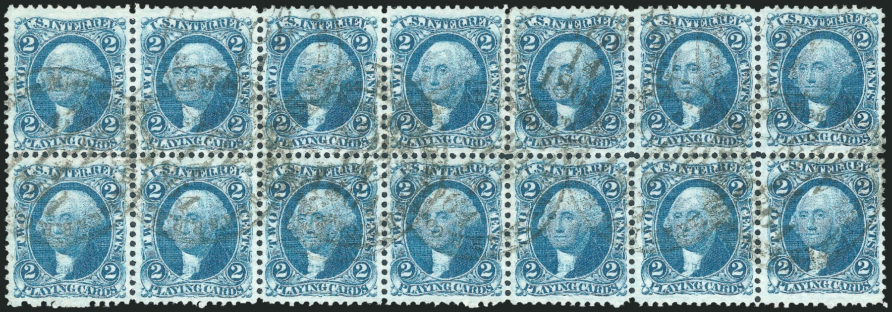 Price of US Stamps Scott Catalog #R11 - 2c 1862 Revenue Playing Cards. Robert Siegel Auction Galleries, Oct 2012, Sale 1031, Lot 1026