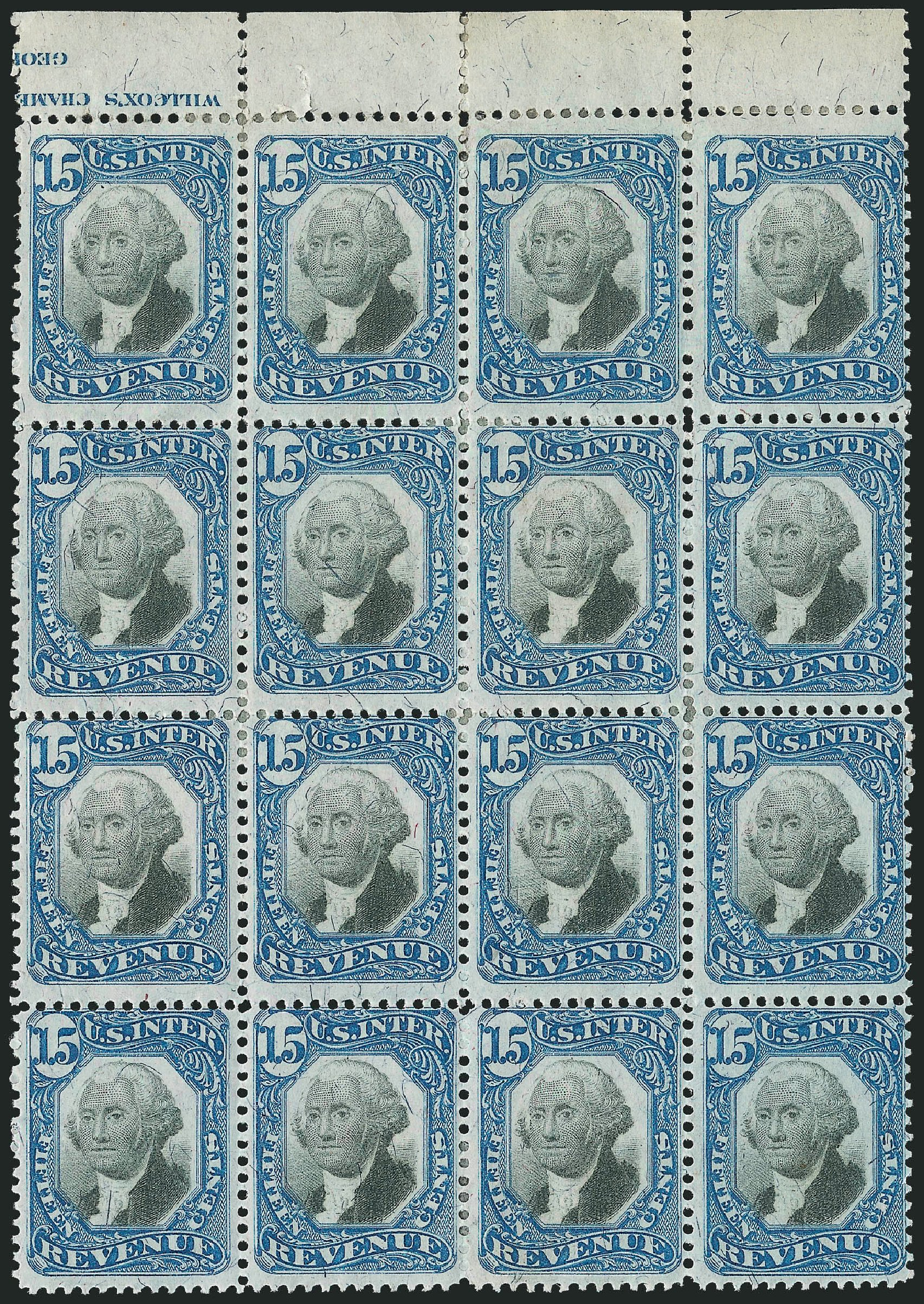 Value of US Stamps Scott Catalog # R110: 15c 1871 Revenue Documentary . Robert Siegel Auction Galleries, Jun 2015, Sale 1100, Lot 177