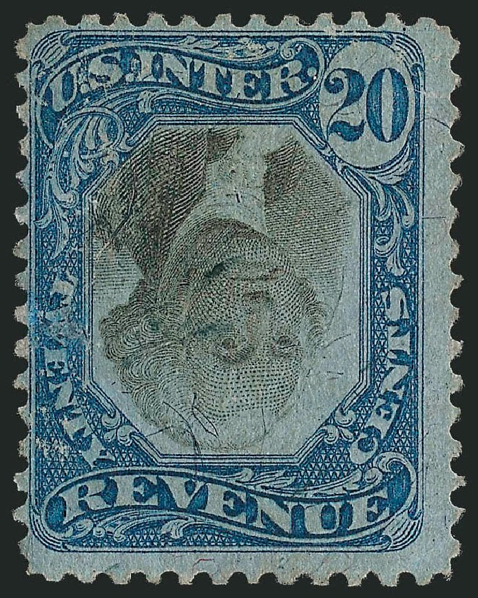 US Stamp Price Scott Cat. #R111 - 20c 1871 Revenue Documentary . Robert Siegel Auction Galleries, Mar 2011, Sale 1007, Lot 3121