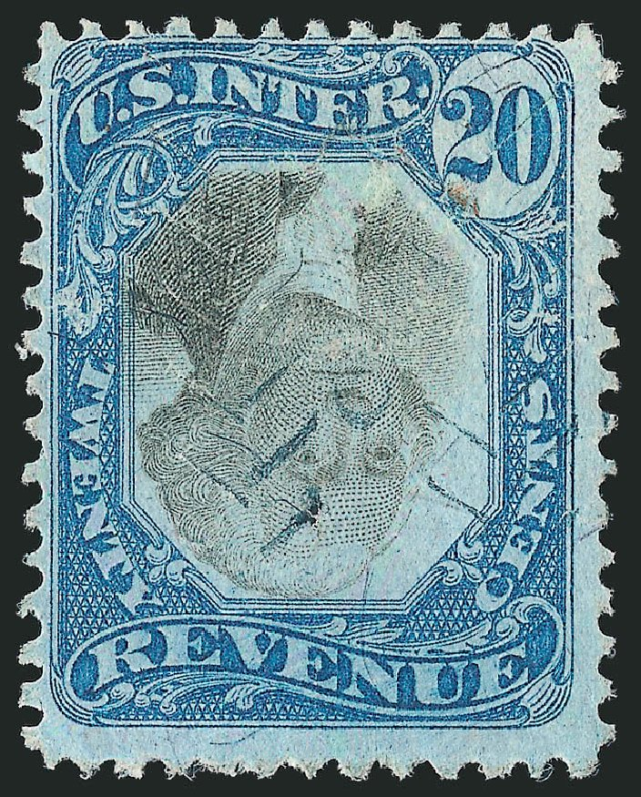 US Stamp Value Scott R111: 1871 20c Revenue Documentary . Robert Siegel Auction Galleries, Dec 2014, Sale 1089, Lot 481