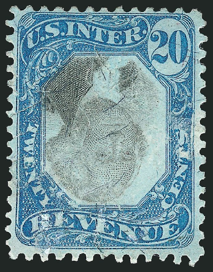 Cost of US Stamps Scott Catalogue #R111: 1871 20c Revenue Documentary . Robert Siegel Auction Galleries, Apr 2015, Sale 1096, Lot 984