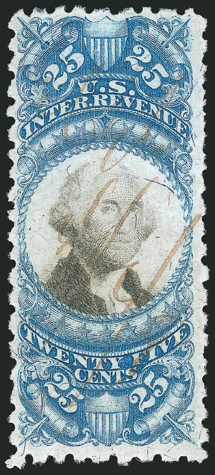 Prices of US Stamp Scott R112: 1871 25c Revenue Documentary . Robert Siegel Auction Galleries, Mar 2014, Sale 1066, Lot 78