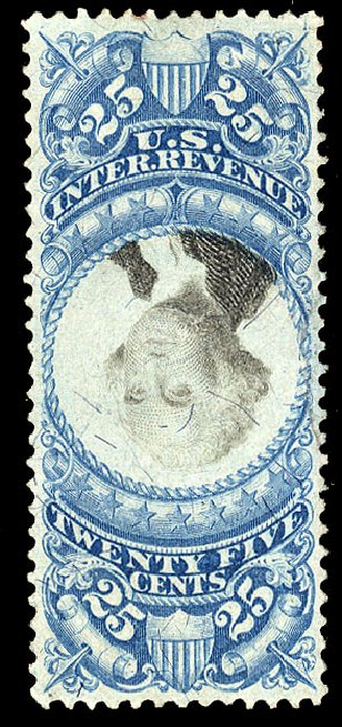 US Stamp Prices Scott R112: 25c 1871 Revenue Documentary . Cherrystone Auctions, Apr 2010, Sale 201004, Lot 340