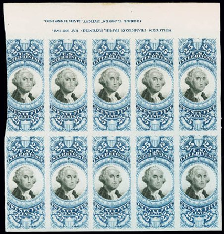 US Stamp Values Scott #R112 - 1871 25c Revenue Documentary . Matthew Bennett International, Jun 2008, Sale 328, Lot 1335
