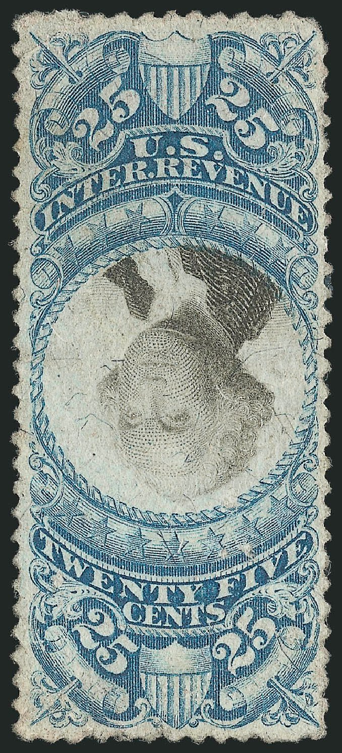 Value of US Stamps Scott Catalog R112 - 1871 25c Revenue Documentary . Robert Siegel Auction Galleries, Apr 2015, Sale 1096, Lot 985