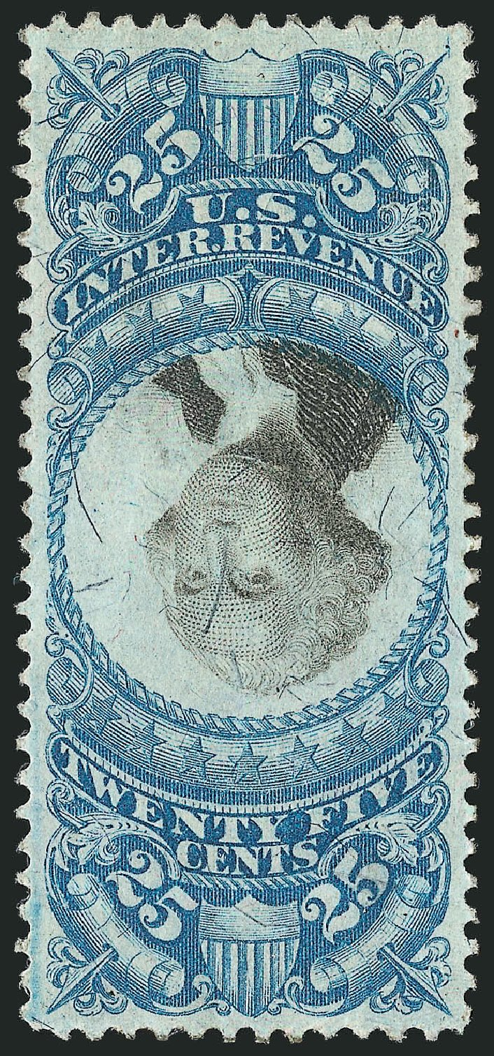 Cost of US Stamps Scott Cat. # R112: 25c 1871 Revenue Documentary . Robert Siegel Auction Galleries, Dec 2014, Sale 1089, Lot 482