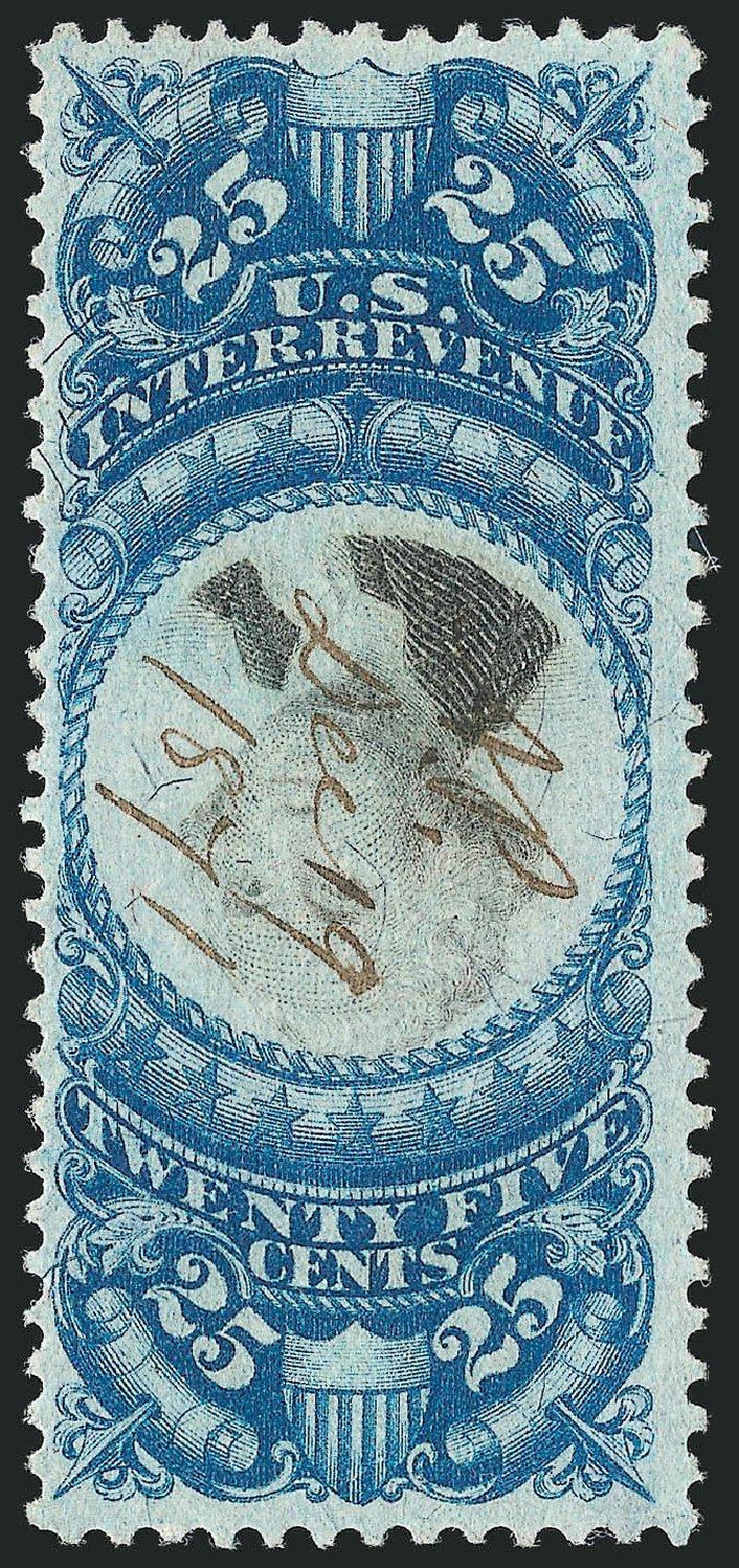US Stamps Prices Scott Catalogue R112: 1871 25c Revenue Documentary . Robert Siegel Auction Galleries, Dec 2014, Sale 1089, Lot 483