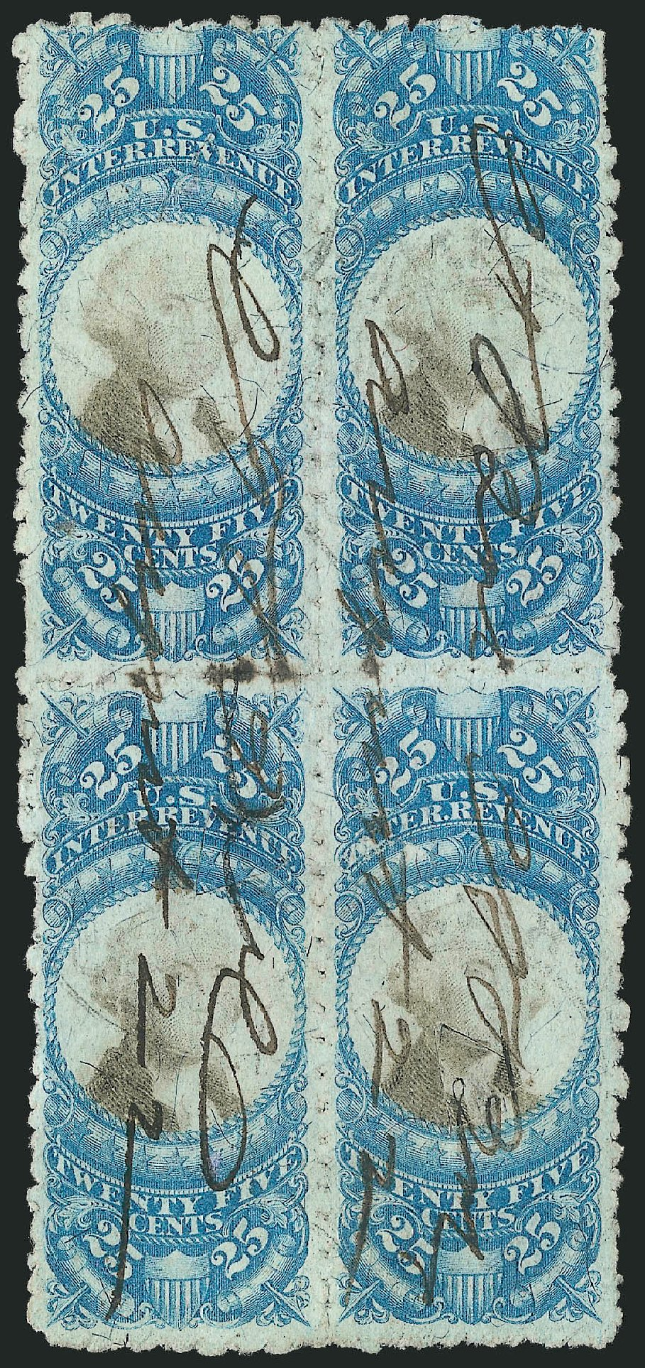 US Stamps Prices Scott Catalogue # R112: 25c 1871 Revenue Documentary . Robert Siegel Auction Galleries, Dec 2014, Sale 1089, Lot 496