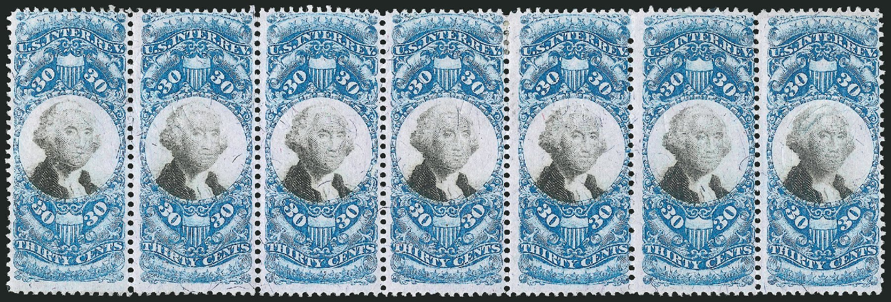 US Stamp Values Scott Catalogue #R113: 30c 1871 Revenue Documentary . Robert Siegel Auction Galleries, Jun 2015, Sale 1100, Lot 178